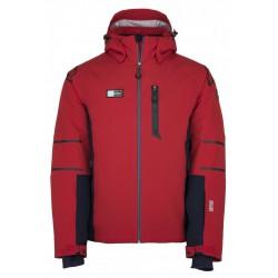 _Kilpi Carpo-M červená pánská nepromokavá zimní lyžařská bunda