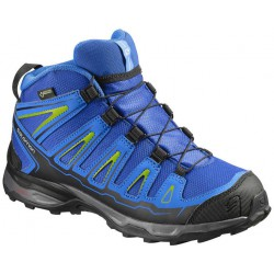 Salomon X-Ultra Mid GTX J blue yonder/bright blue 390294 dětské nepromokavé trekové boty