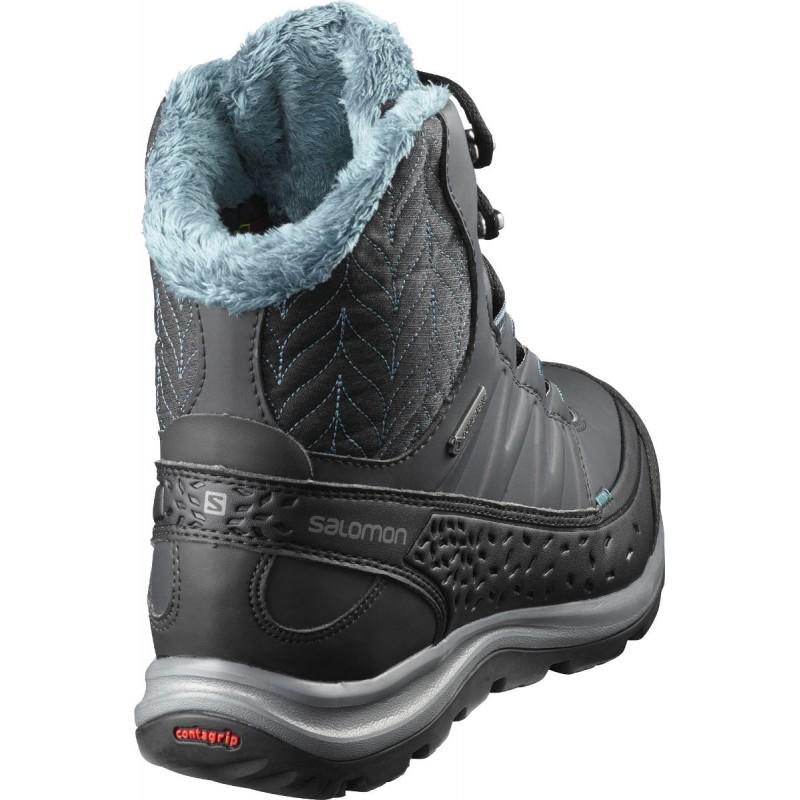 2ce87f3822f ... Salomon Kaina Mid GTX phantom black hydro 404735 dámské zimní  nepromokavé boty (1 ...