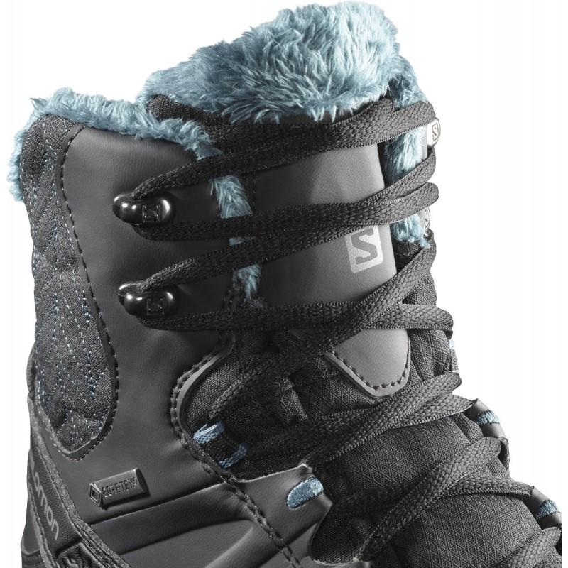 cea83866f4f ... Salomon Kaina Mid GTX phantom black hydro 404735 dámské zimní  nepromokavé boty (6 ...
