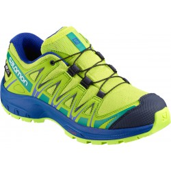 Salomon XA Pro 3D CSWP J acid lime/surf the web 406473 dětské nízké nepromokavé boty