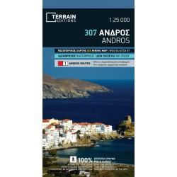 TERRAIN 307 Andros 1:25 000 turistická mapa