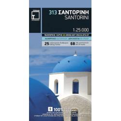 TERRAIN 313 Santorini 1:25 000 turistická mapa