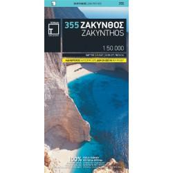 TERRAIN 355 Zakynthos 1:50 000 turistická mapa