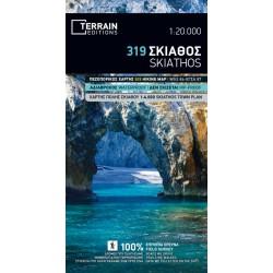 TERRAIN 319 Skiathos 1:20 000 turistická mapa