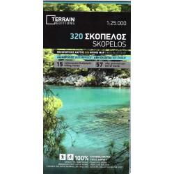 TERRAIN 320 Skopelos 1:25 000 turistická mapa