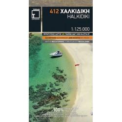 TERRAIN 412 Halkidiki/Chalkidiki 1:125 000 turistická mapa