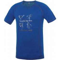 Direct Alpine Furry 1.0 blue/anthracite (activity) pánské triko krátký rukáv Merino