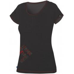 Direct Alpine Furry Lady 1.0 black/red dámské triko krátký rukáv Merino