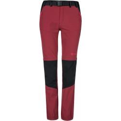 Kilpi Hosio-W tmavě červená dámské odepínací turistické kalhoty
