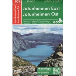 PhoneMaps 109 Jotunheimen východ 1:50 000 turistická mapa
