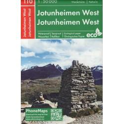 PhoneMaps 110 Jotunheimen západ 1:50 000 turistická mapa