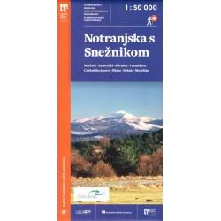 Geodetski Notranjska s Sněžnikom/Vnitřní Kraňsko a Sněžník 1:50 000 turistická mapa