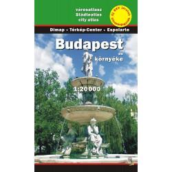 DIMAP Budapešť 1:20 000 turistický atlas / plán města