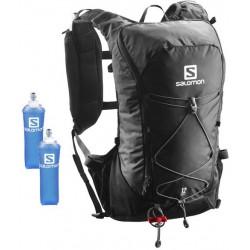 Salomon Agile 12l Set black 401633 běžecký batoh + 2 ks měkké láhve