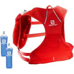 Salomon Agile 2l Set fiery red C10931 běžecký batoh + 2 ks měkké láhve