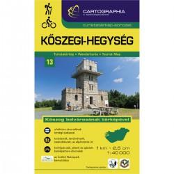 Cartographia Günserské hory (Kőszegi-hegység) 1:40 000 turistická mapa