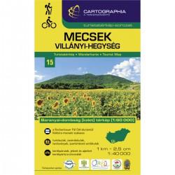 Cartographia Mecsek, Villányi-Hegység 1:40 000 turistická mapa