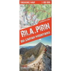 TerraQuest Rila a Pirin 1:80 000 turistická mapa