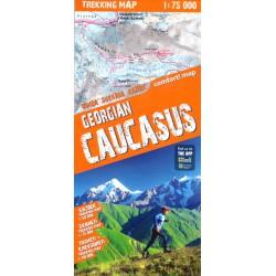 TerraQuest Georgian Caucasus 1:75 000 Svaneti+Kazbek+Tusheti/Khevsureti turistická mapa