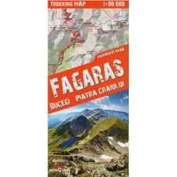 TerraQuest Fagaraš,Bucegi, Piatra Craiului 1:80 000 turistická mapa