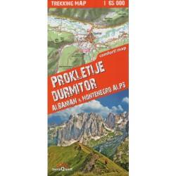TerraQuest Prokletije, Durmitor - Albánské a Černohorské alpy 1:65 000 turistická mapa