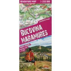 TerraQuest Bucovina, Maramureš 1:250 000 turistická mapa