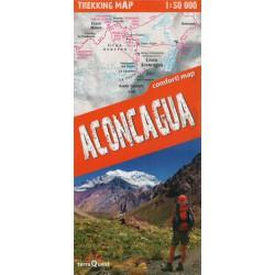 TerraQuest Aconcagua 1:50 000 turistická mapa