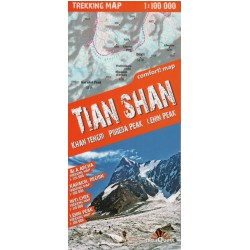 TerraQuest Tian Shan, Khan Tengri, Pobeda a Pik Lenina 1:100 000 turistická mapa