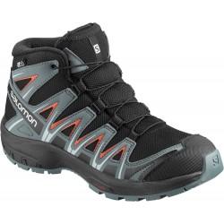 Salomon XA Pro 3D Mid CSWP K black/stormy weather 406513 dětské nepromokavé trekové boty