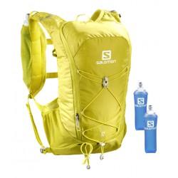 Salomon Agile 12l Set citronelle/sulphur spring C10928 běžecký batoh + 2 ks měkké láhve