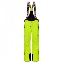 Husky Zeus Junior zelenožlutá dětské nepromokavé zimní lyžařské kalhoty