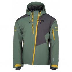 Kilpi Asimetrix-M khaki pánská nepromokavá zimní lyžařská bunda