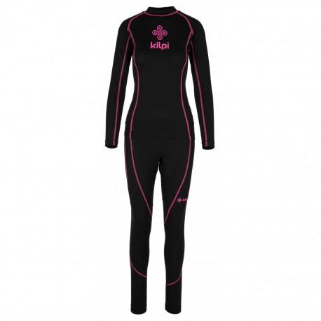 Kilpi Takaset-W černá dámské termoprádlo set triko dlouhý rukáv + spodky