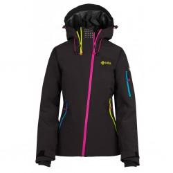 Kilpi Asimetrix-W černá dámská nepromokavá zimní lyžařská bunda