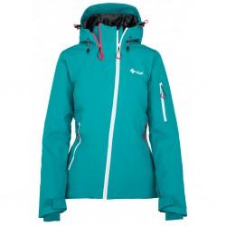 _Kilpi Asimetrix-W tyrkysová dámská nepromokavá zimní lyžařská bunda změřeno