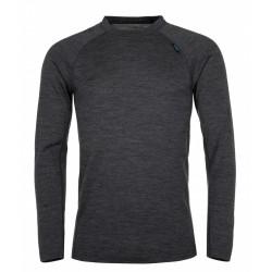 Kilpi Patton-M tmavě šedá pánské funkční triko dlouhý rukáv Merino vlna