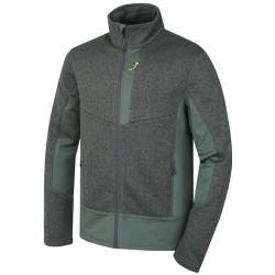Husky Alan M šedozelená pánský sportovní svetr