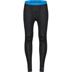 Zajo Bergen Merino Pants black pánské spodky dlouhá nohavice Merino vlna/bambus