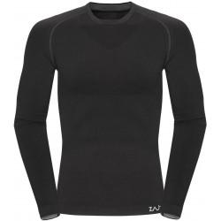 Zajo Contour M T-shirt LS black pánské triko dlouhý rukáv
