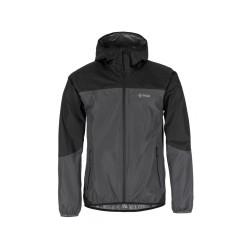 Kilpi Hurricane-M tmavě šedá pánská lehká nepromokavá bunda