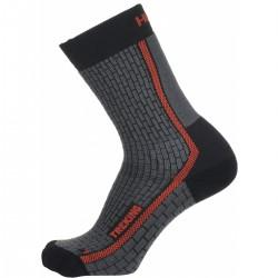 Husky Treking New antracit/red trekové ponožky Merino