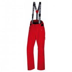 Husky Mitaly L červená dámské nepromokavé zimní lyžařské kalhoty