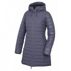 Husky Daili šedofialová dámský zimní péřový kabát HuskyTech 7000