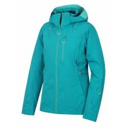 Husky Montry L tyrkysová dámská nepromokavá zimní lyžařská bunda