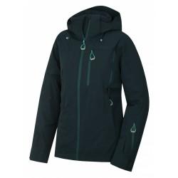 Husky Montry L tm. zelená dámská nepromokavá zimní lyžařská bunda