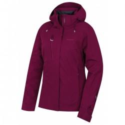 Husky Gonzal L vínová dámská nepromokavá zimní lyžařská bunda