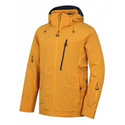 Husky Montry M krémově žlutá pánská nepromokavá zimní lyžařská bunda 1