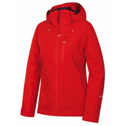 Husky Montry L červená dámská nepromokavá zimní lyžařská bunda