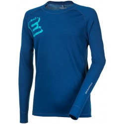 Progress Dry Fast DF NDR Print tmavě modrá pánské triko dlouhý rukáv